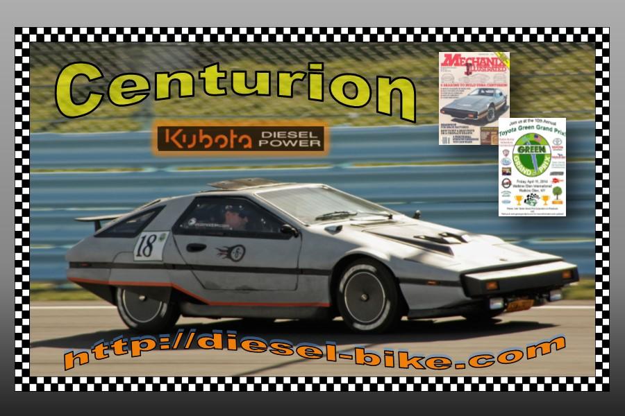 Urba Centurion pulling 204 miles per gallon on the Watkins Glen International Raceway in NY